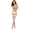 Dreamgirl White Back-Seam Sheer Stockings