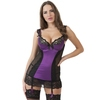 Lovehoney Treasure Me Purple Underwired Plunge Chemise Set