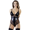Cottelli Wet Look and Mesh Bondage Body with Arm Restraints