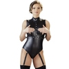 Cottelli Wet Look Teddy with Arm Restraints
