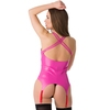 Easy-On Latex Pink Basque with Suspenders