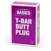 BASICS Clear T-Bar Butt Plug