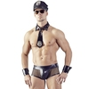 Svenjoyment Black Wet Look Bad Cop Costume