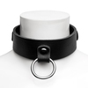 DOMINIX Deluxe Leather Collar with Detachable Flogger