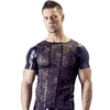 Svenjoyment Men's Black Wet Look and Lace Shirt