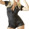 Cottelli Black Sexy Cop Playsuit Costume