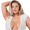 Lovehoney Plus Size Celeste Bustier-Set (weiß)