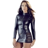 Cottelli Wet Look Skin Tight Top with Zip