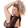 Lovehoney Plus Size Celeste Black Lace Front-Fastening Bra Set