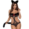 Obsessive Black Cut-Out Leopard Costume