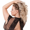 Lovehoney Plus Size Celeste Black Lace Bustier Set