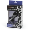 Power Gem Rechargeable Vibrating Silicone Butt Plug 3 Inch
