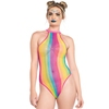 Leg Avenue Rainbow Stripe Net Racerback Body