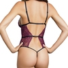 Dreamgirl Burgundy Lace Strappy Cut-Out Lace Body
