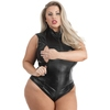 Body zip intégral wetlook grande taille Fierce, Lovehoney