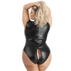 Lovehoney Plus Size Fierce Wet Look Peek-A-Boo Teddy