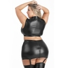 Lovehoney Plus Size Fierce Wet Look Suspender Skirt