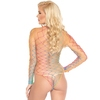 Leg Avenue Rainbow Fence Net Long Sleeved Body