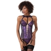 Lovehoney Lustre Purple Metallic Lace Basque Set