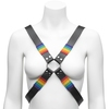 Bondage Boutique Rainbow and Leather Harness