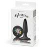 Glams Silicone Mini Butt Plug with Rainbow Crystal 3 Inch
