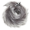 DOMINIX Deluxe Stainless Steel Small Faux Silver Fox Tail Butt Plug