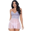 Escante Pink Lace and Mesh Babydoll Set