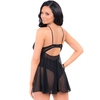 Escante Underwired Black Lace and Mesh Babydoll