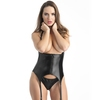 Ensemble bustier seins nus string wetlook Fierce, Lovehoney