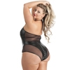 Lovehoney Plus Size Fierce Plunging Mesh and Leather-Look Body