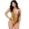 Seven 'til Midnight Pink and Gold Two-Tone Sequin Thong Teddy