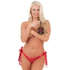 Lovehoney Plus Size Red Lace Pom-Pom Knickers