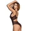 Mapale Black Sheer Striped Body