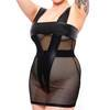 Mini robe wetlook résille grande taille Rock Chick, Brand X