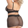 Lovehoney Plus Size Fierce Fishnet Bra and Skirt Set