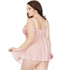 Coquette Plus Size Pink Underwired Lace Babydoll Set