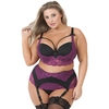 Lovehoney Plus Size Belle Amour Cherry and Black Longline Bra Set
