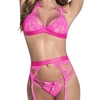 Mapale Sweetheart Hot Pink Lace Bra Set