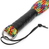 Bondage Boutique Rainbow Flogger with Leather Handle