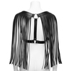 DOMINIX Leather Tassel Harness Black