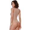 Dreamgirl Champagne Sparkly Nude Illusion Sheer Body