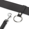 DOMINIX Deluxe Leather Belt with Detachable Flogger S/M
