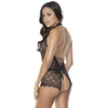 Coquette Black Open-Back Keyhole Crotchless Body