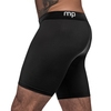 Male Power Black Stretch Long Boxer Shorts