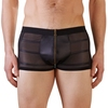 Svenjoyment Wet Look Black Zip-Up Boxer Shorts