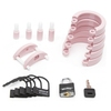CB-3000 Pink Male Chastity Cage Kit