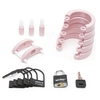 CB-6000 Pink Male Chastity Cage Kit