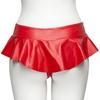 Easy-On Latex Red Cheeky Ruffle Skirt Thong