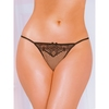 Seven 'til Midnight Black Heart G-String