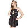 Lovehoney Flirty Black Lace Halterneck Babydoll